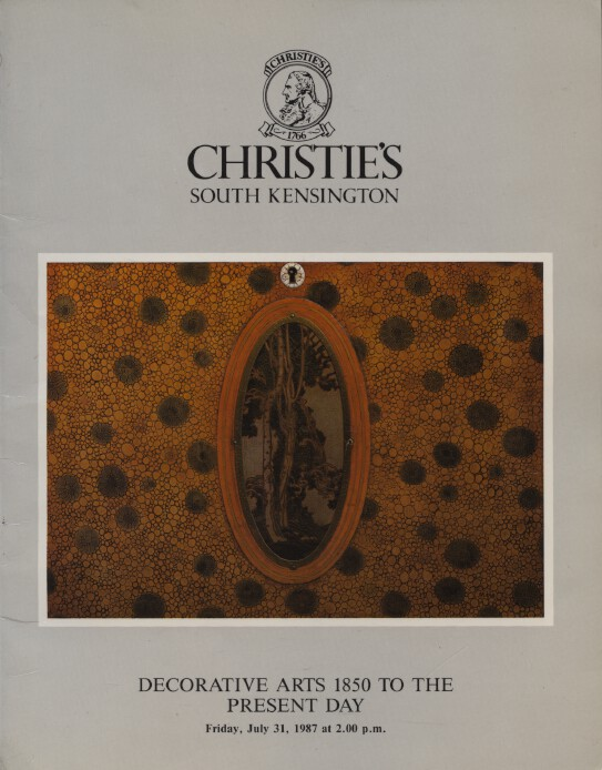 Christies 1987 Decorative Arts 1850 to the Present Day